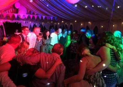 Rach & Rich's wedding reception in Walberswick